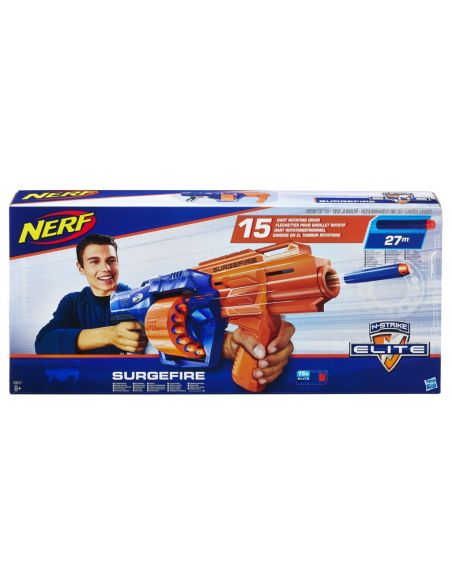 Hasbro Original - Nerf Elite N-Strike Surgefire 27m - Lanza dardos - 8 AÑOS+ Envío Gratis - E0011EU4