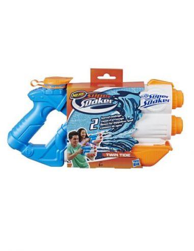 Hasbro Original - Nerf Supersoaker Twin Tide - Pistola de agua - 6 AÑOS+ Envío Gratis - E0024EU4