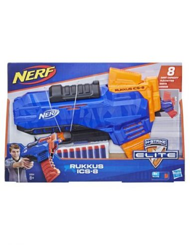 Hasbro Original - Nerf Elite N-Strike Rukkus ICS-8 - Lanza dardos - 8 AÑOS+ Envío Gratis - E2654EU4