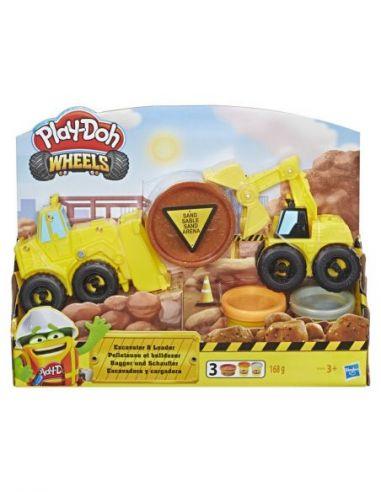 Hasbro Original - Excavadora y Cargadora - Juguete creativo - Play-Doh  - 3 AÑOS+ Envío Gratis - E4294EU4