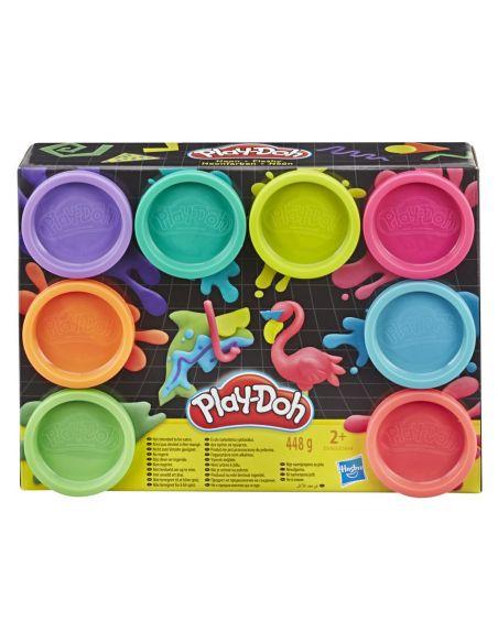 Hasbro Original - Pack de 8 botes Plastilina Neon - Juguete creativo - Play-Doh  - 24 MESES+ Envío Gratis - E5063ES0