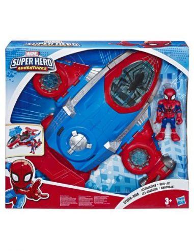 Hasbro Original - Spiderman Aracnojet - Figura - Marvel Super Hero Adventures  - 3 AÑOS+ Envío Gratis - E4840EU4