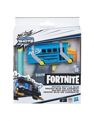 Hasbro Original - Nerf Elite Micro Shots Fortnite Battle Bus - Lanza dardos - 8 AÑOS+ Envío Gratis - E6752ES0